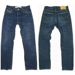 Diesel Jeans - DIESEL Industry straight leg button fly mom jeans